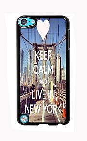 진정 유지 및 아이팟 터치 5 뉴욕 디자인 알루미늄 높은 품질의 케이스에 살고