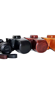 dengpin pu læder olie hud aftagelig kamera cover taske til sony ilce-7rm2 a7ⅱ (assorterede farver)