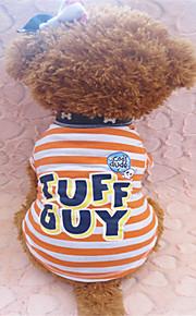 Verano - Naranja - Cebra - Algodón - Camiseta - Perros - S / M