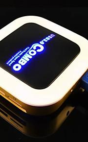 høyhastighets USB 3.0 kortleser tf jf sd hub slank leseren +3 porter hub combo