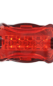 Bicycle Bike 7-Mode 5-LED Red Light Tail Warning Safety Light
