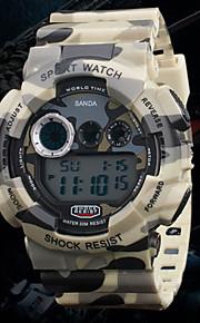 relógios lazeres esporte camuflagem militar relógio à prova d'água dos homens