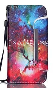 Body collant portefeuille / Support de Carte / résister Paysage Cuir PU Dur Couverture de cas pour Samsung GalaxyS6 edge / S6 / S5 Mini /