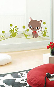 multifunções pvc diy grama e padrão gatinhos adesivos decorativos