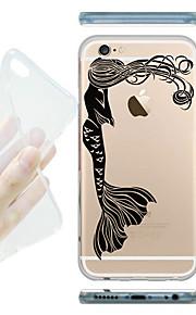 MAYCARI® The Shy Mermaid Transparent Soft TPU Back Case for iPhone 6