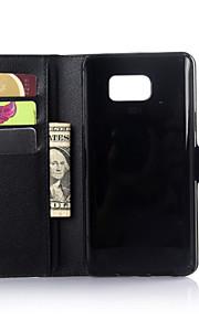 cassa del raccoglitore di vera pelle di lusso per Samsung Galaxy Note 5/4 della nota / nota 3 edge / Nota (colori assortiti)