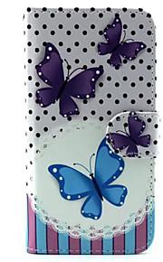 butterfly mønster pu lær telefon tilfelle for samsung galaxy s6 / galaxy s6 kant / galaxy s6 kant pluss