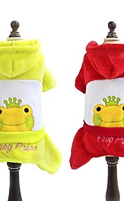 FUN OF PETS® Lovely Frog Pattern Jumpsuits with Hoodie for Pet Dogs (Assorted Sizes and Colours)