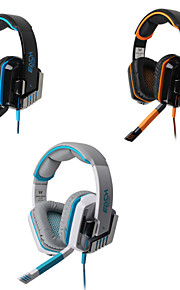 gioco hifi cablato cuffie con microfono in linea&controllo del volume del rumore orecchio bagliore che annulla bassi auricolari