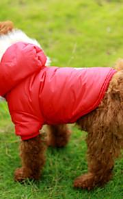 Rojo/Marrón Algodón - Abrigos - Perros -