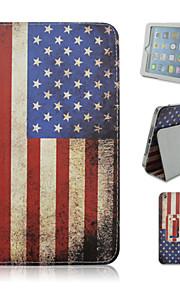 아이 패드 mini1 / 2 / 3 그려진 미국 국기 브래킷 태블릿 PC 케이스