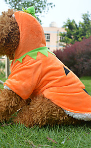 Yellow Cotton Halloween Pumpkin Styles Clothes Coats For Dogs/Pets