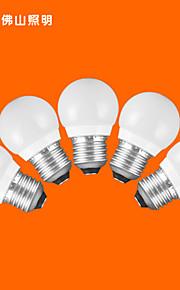 5pcs fsl® e27 3W 3000K-6500k varm / kjølig lys ledet kloden pærer 220v
