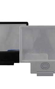 3d8 2x ampliato schermo con l'altoparlante per iPhone6 / 6plus / 5s / 4s / 5 di Samsung S4 / 5 htc e altri dispositivi mobili (nero /