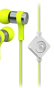 WHF-118 3.5mm Noise-Cancelling Mike In Ear Earphone for Iphone and Other Phones(Assorted Colors)