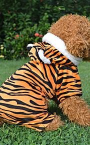 Rojo/Negro - Leopardo - Algodón - Abrigos - Perros -