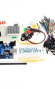 New Starter Kit UNO R3 Mini Breadboard LED Jumper Wire Button for Arduino Compatile