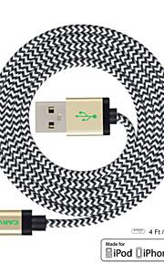 wyrzeźbić 4ft (1,2 m) mfi certyfikowany błyskawice do kabla USB do synchronizacji i ładowania do Apple iPhone 5 / 5s / 6/6 plus / ipad