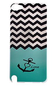 ondata di ancoraggio modello di amore pc caso duro della copertura posteriore per iPod touch 5