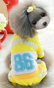 FUN OF PETS® Sport Style New York Number 86 Pattern Raglan Coat with Pants Jumpsuits for Pets Dogs
