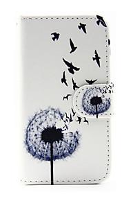 voikukka kuvio PU nahka puhelin kotelo Samsung Galaxy J1 (2016) / galaxy J5 (2016)