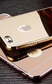 plating speil tilbake med metallramme telefon tilfelle for iphone 6/6-ere (assorterte farger)