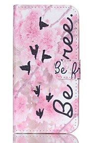 EFORCASE Pink Flower Pian Painted PU Phone Case for Galaxy S6 edge S6 S5 S4 S3 S5 mini S4 mini S3 mini