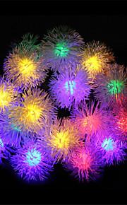 ledet streng med lysene solcelle Maomao ball streng lys vanntett utendørs Christmas Lights streng hagen lys