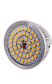 7W GU5.3(MR16) LED-spotpærer MR16 48 SMD 2835 600 lm Varm hvit Dekorativ DC 12 V 1 stk.