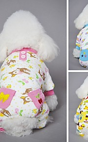 FUN OF PETS® Lovely Warm Winter Cartoon Pattern Cotton Fleece Coat with Back Pocket   for Pets Dogs