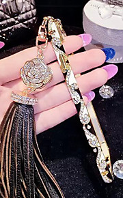 lady®elegant / luksuriøse telefon etui til iPhone 6 plus / 6s plus (5,5 tommer), dekoreret med Camellia diamant og metal kofanger