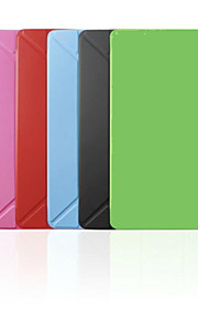사과 아이 패드 미니 2/아이 패드 미니 3 - 한 색상 - 스마트 커버/종이 접기 케이스 (PU 가죽 , 레드/블랙/화이트/그린/블루/핑크)