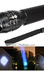 פנס LED ( עמיד למים / ניתן לטעינה מחדש / עמיד לחבטות / Strike Bezel / חירום / Zoomable ) - LED 3 מצב 500 Lumens AAA Cree Q5 סוללה -
