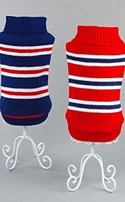 FUN OF PETS® Classic Blue/Red Stripe Winter Sweater Dogs Clothing for Pets Puppy Dogs