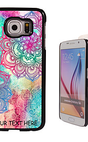 Personalized Case - Elegant Flower Design Metal Case for Samsung Galaxy S6/ S6 edge/ note 5/ A8 and others