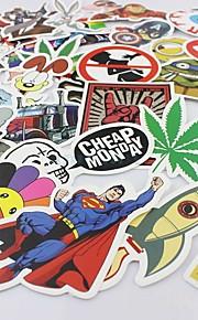 100 Pcs/ Pack Random Music Film Vinyl Skateboard Guitar Travel Case Sticker Car Decal Cute Stickers