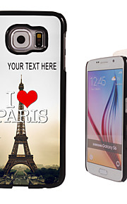 Personalized Case - I Love Paris Eiffel Tower Design Metal Case for Samsung Galaxy S6/ S6 edge/ note 5/ A8 and others
