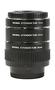 galvanoplastia bronze tubos de extensão macro af kooka kk-N68 estabelecidos para Nikon (12 milímetros 20 milímetros 36 milímetros) câmeras