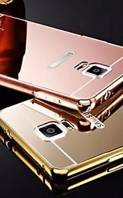 ny plating speil tilbake med metallramme telefon tilfelle for Galaxy Note 3 / note 4 / note 5 / notat 5edge (assorterte farger)