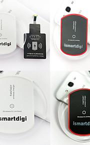 ismartdigi iw-wcs1-sam draadloze lader set voor Samsung S4 / 06/05 HTC en andere mobiele apparaten (zwart / wit)