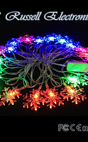 4M 20 LED Christmas Snow RGB Shape String Fairy Light Christmas Xmas ideal