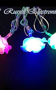 4M 20 LED Christmas Roses RGB Shape String Fairy Light Christmas Xmas ideal