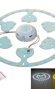 Jiawen 24W 2300lm 6500K/3200K  48-SMD5730 White/Warm White Light Source for Ceiling Lamp /Magnetic Nail (AC170~265V)