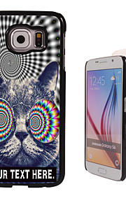 Personalized Case - Cat Design Metal Case for Samsung Galaxy S6/ S6 edge/ note 5/ A8 and others