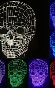 visuel 3d kranium model humør atmosfære førte dekoration usb batteri bordlampe farverige gave natlys
