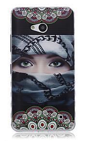 caso enmascarado teléfono material de TPU patrón Chica para Nokia N640