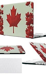 "2 in 1 Maple Leaf Hard Plastic Cover for MacBook Air Pro Retina 11"" /13"" /15 ""with Transparent Keyboard Cover"