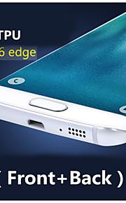3d copertura completa ad alta definizione tpu evitare graffi protezione dello schermo per Samsung Galaxy S6 bordo (anteriore + posteriore)