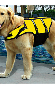 Green/Yellow Mixed Material Life Jacket For Dogs