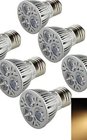YouOKLight® 6PCS E27 3W 300lm 3000K Warm White Light Spotlight,Lampu daya tinggi dipimpin sorotan (AC 90 ~265V)